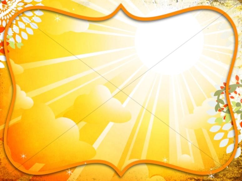 Bright Yellow Worship Background