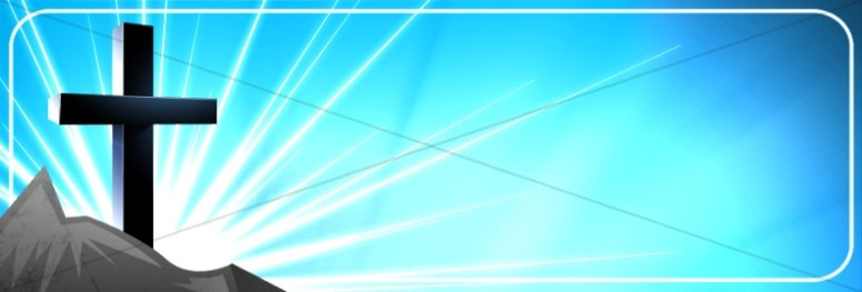 Cross and Blue Sky Website Banner