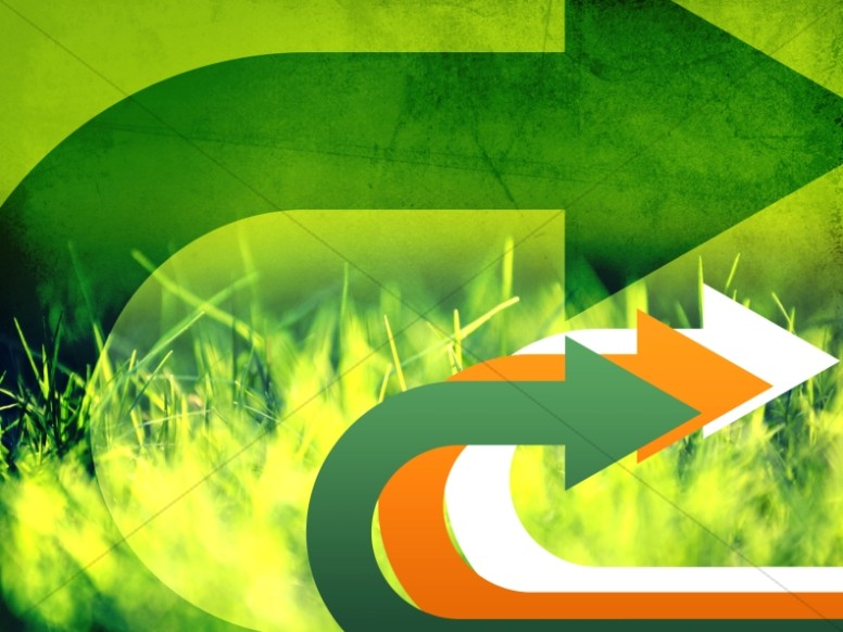 Green Arrows Worship Background