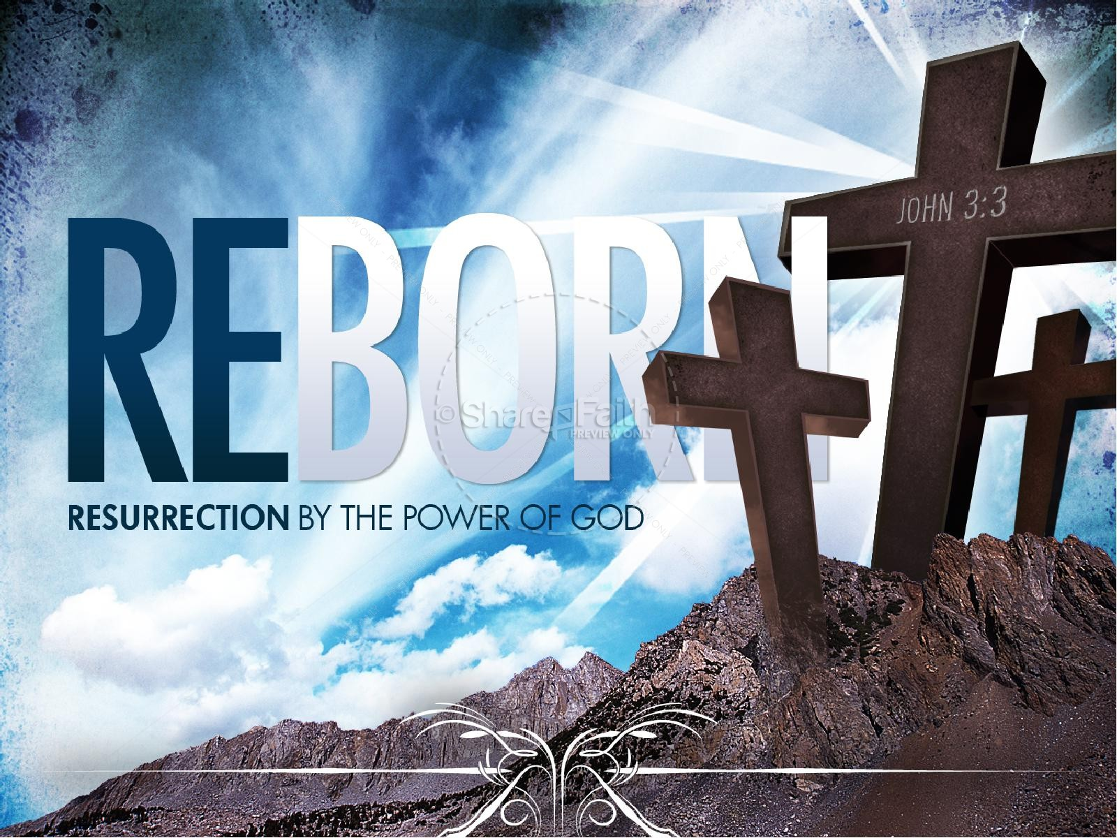 Reborn Church PowerPoint Template | slide 1