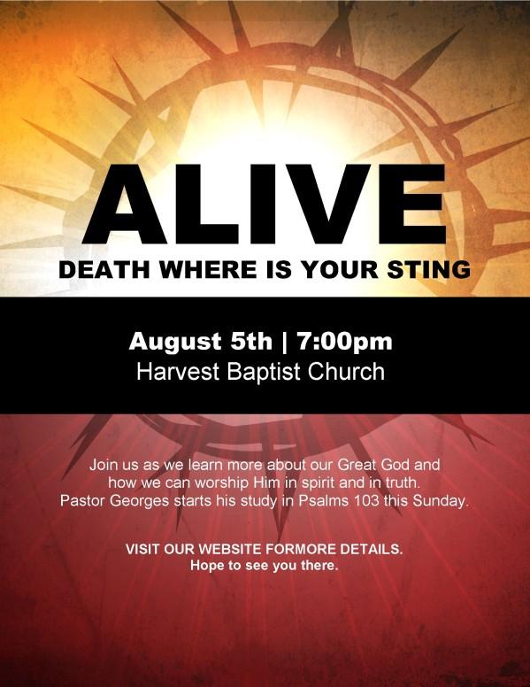 Alive Flyer
