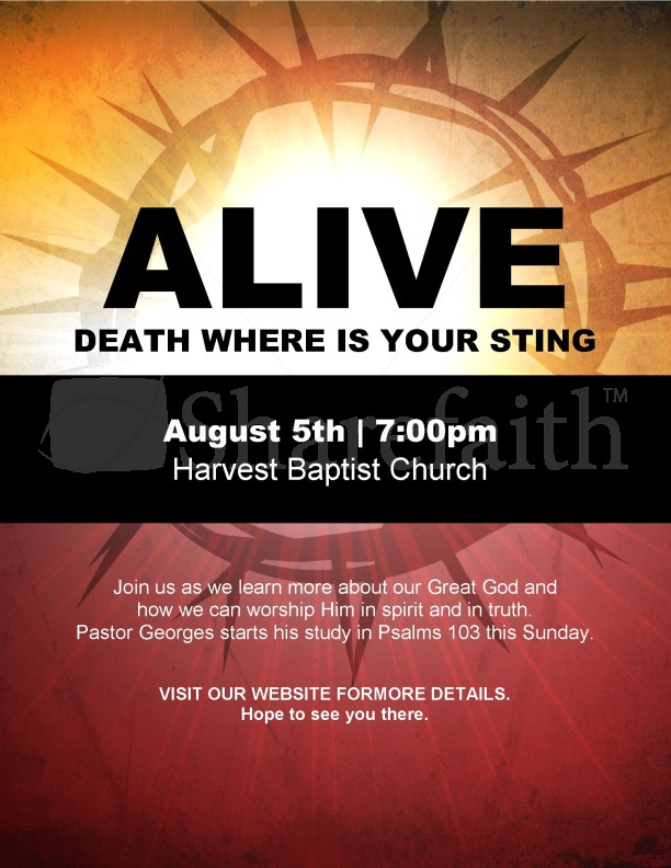 Alive Flyer | page 1