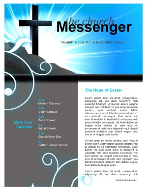 church cross newsletter template template newsletter templates