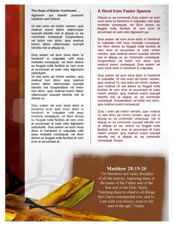 Grace Church Newsletter Template | Newsletter Templates
