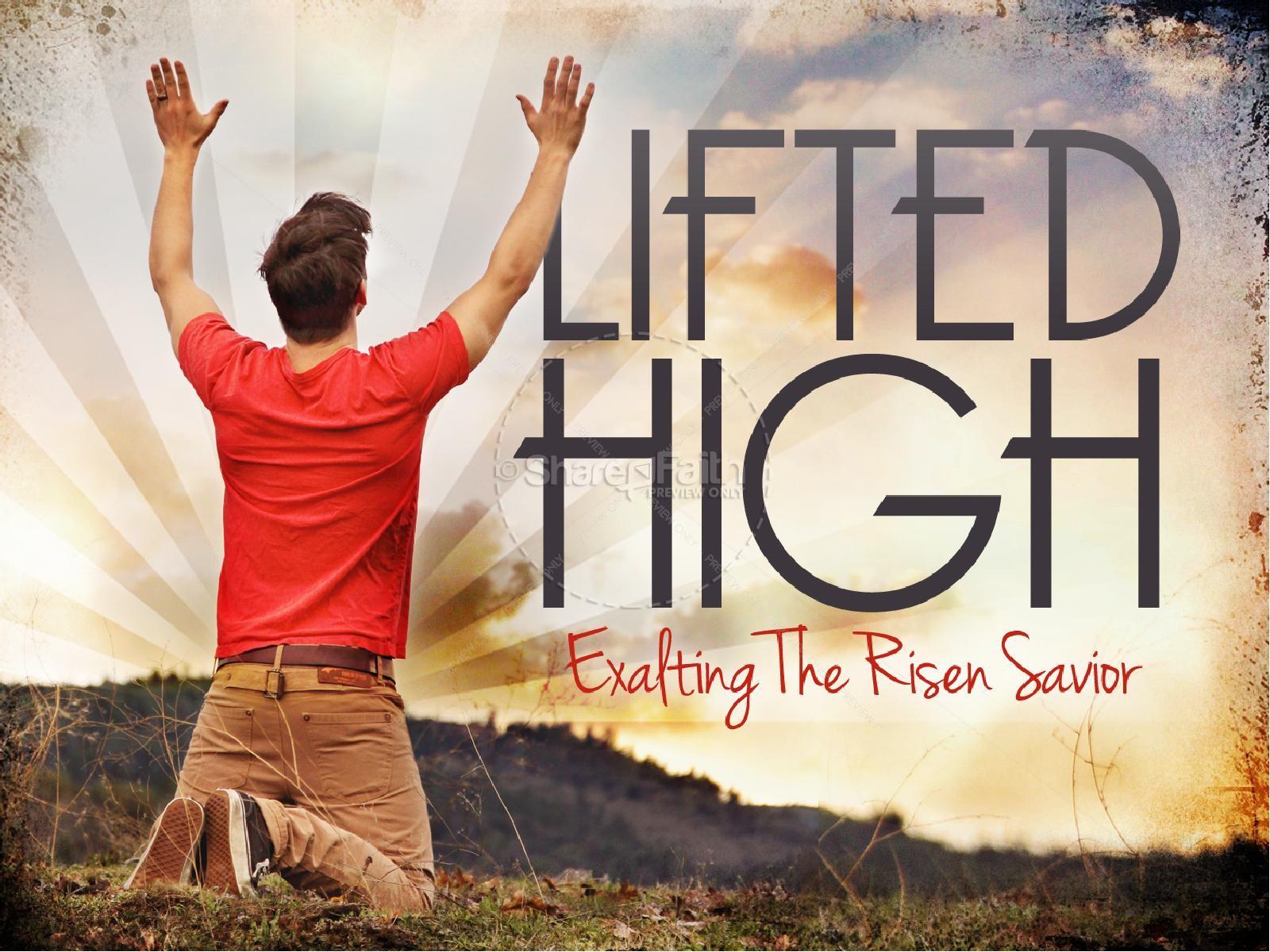 Exalted Easter PowerPoint Sermon | slide 1