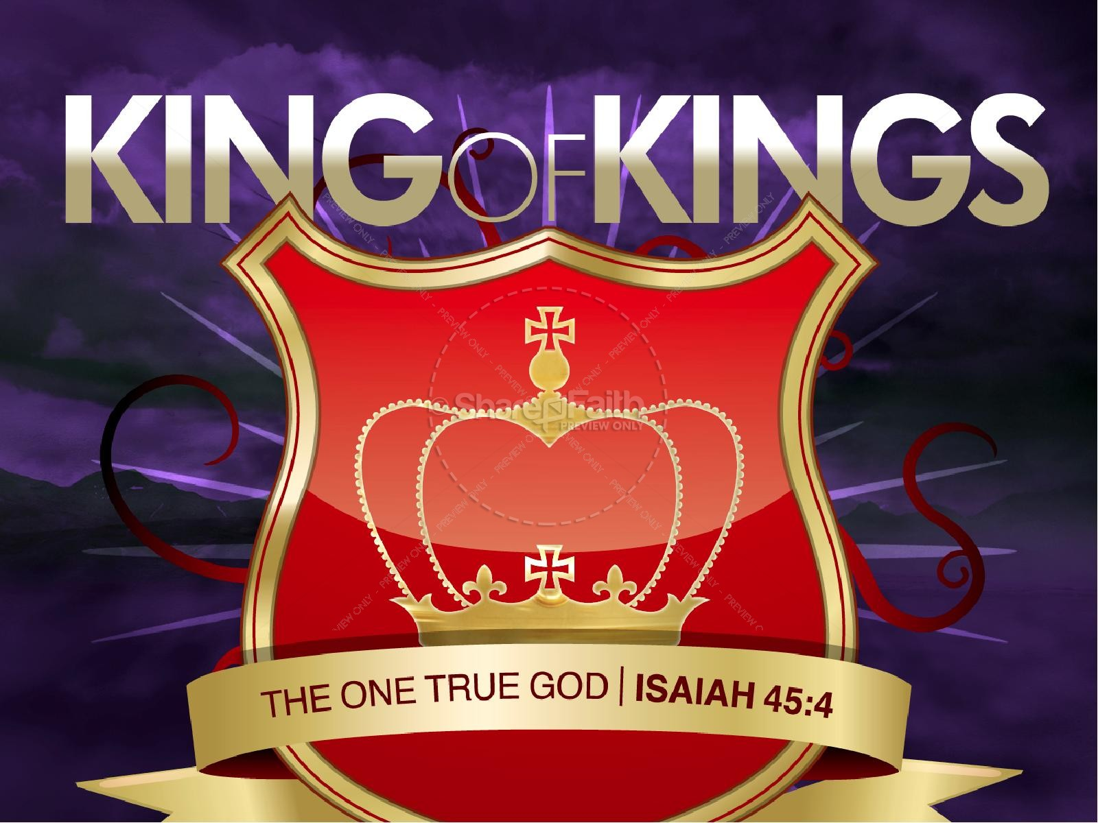King of Kings PowerPoint | slide 1