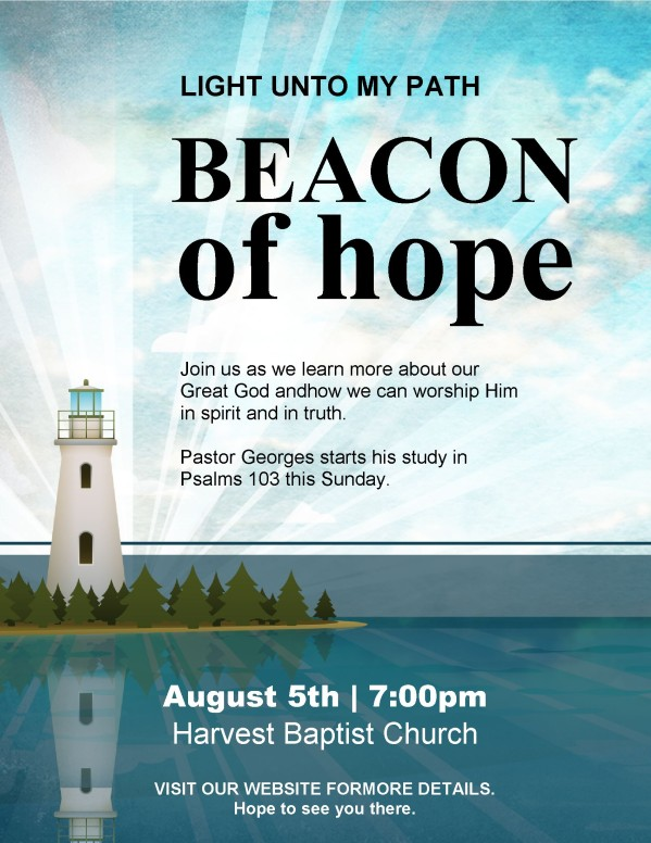 Lighthouse Church Flyer Template