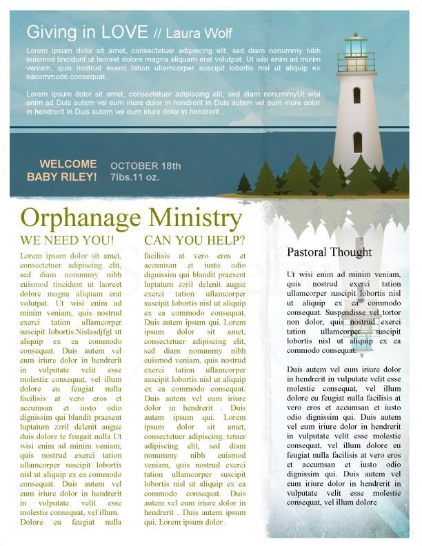 Lighthouse Newsletter Template