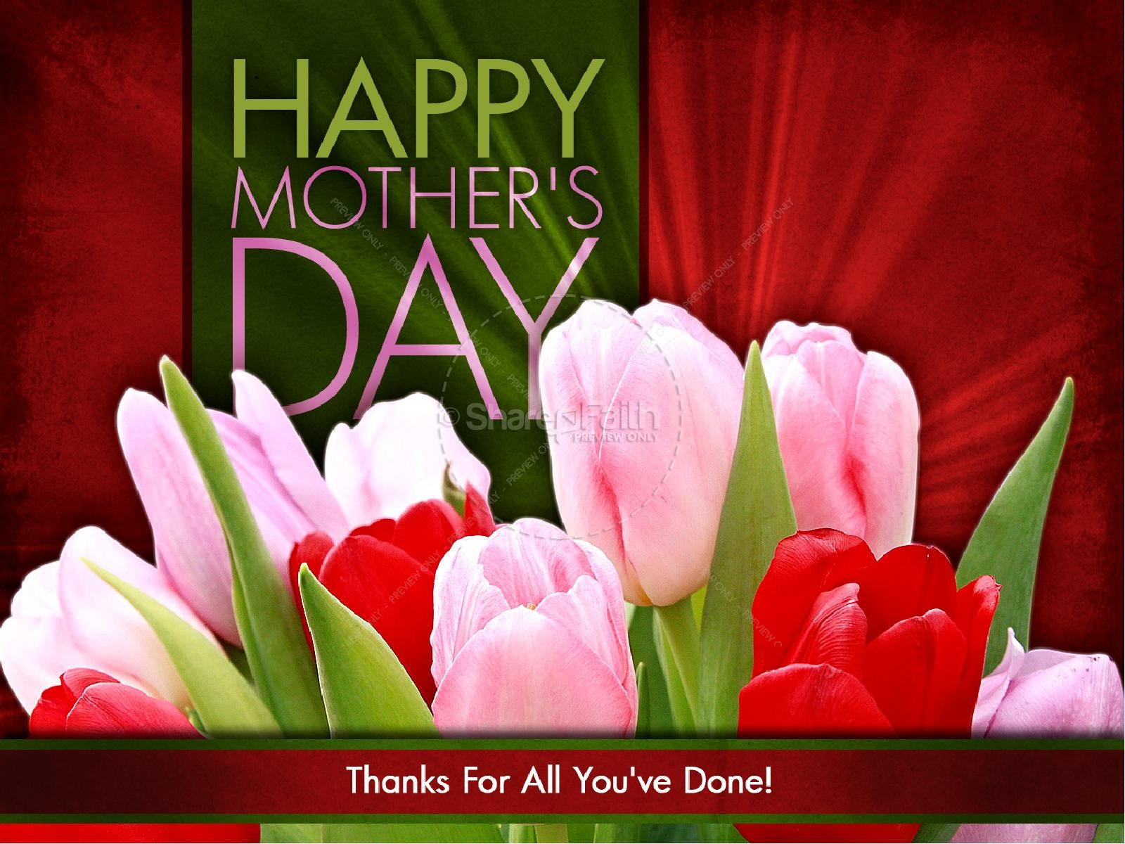 Happy Mother's Day Template PowerPoint