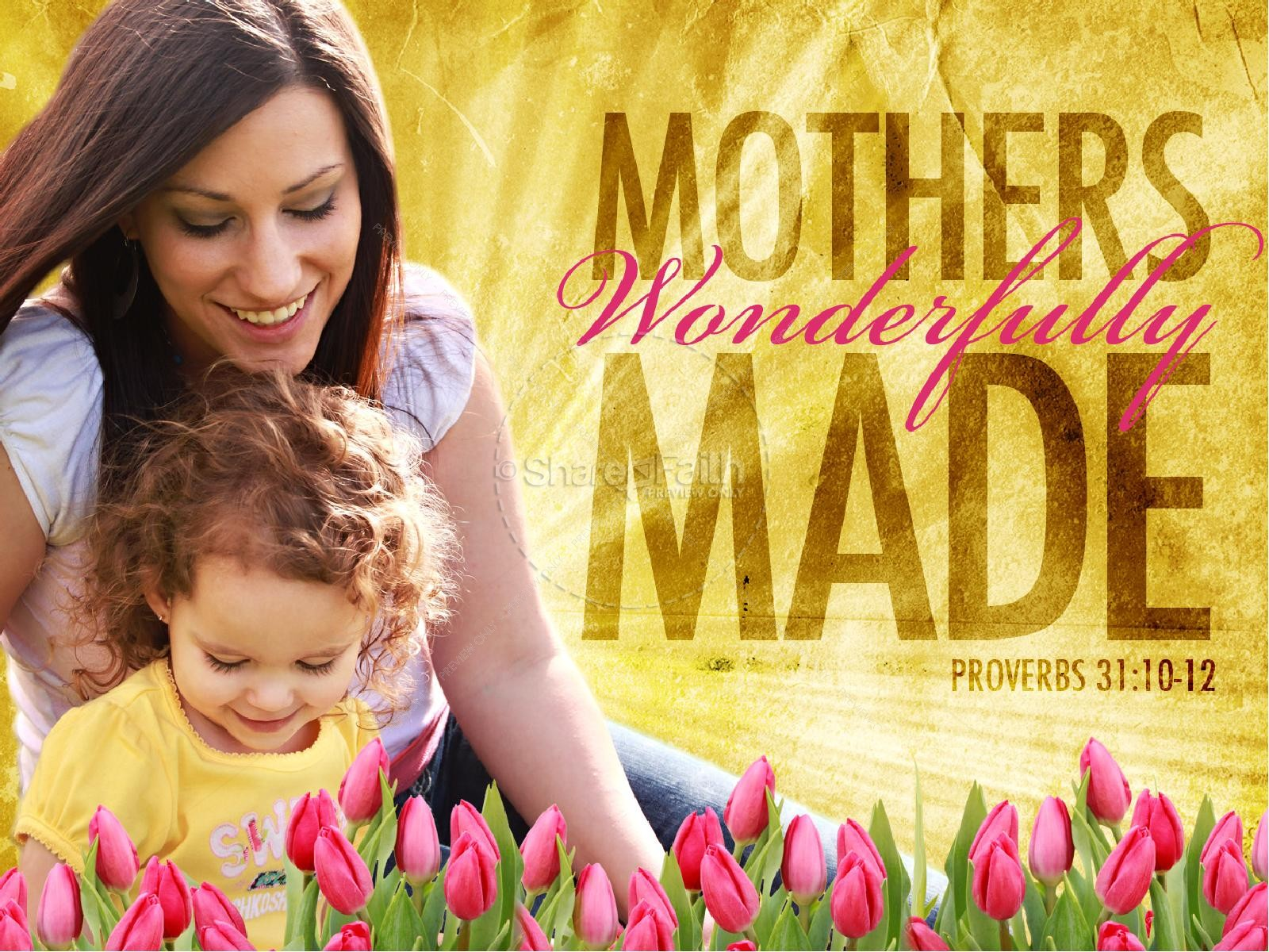 Mothers Wonderfully Made PowerPoint