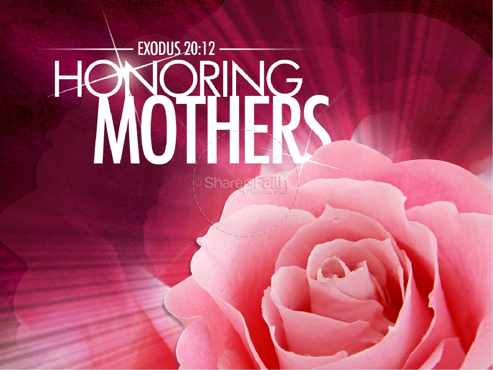 Honoring Mother's PowerPoint Sermon Template | slide 1