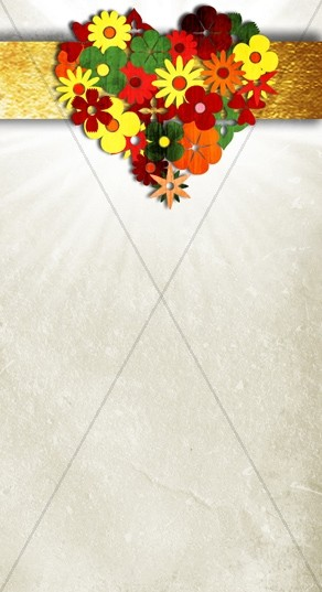 Heart Flower Website Sidebar