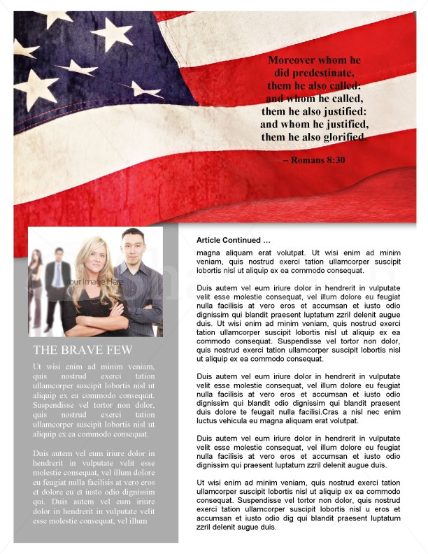 Memorial Day Newsletter Design | page 2