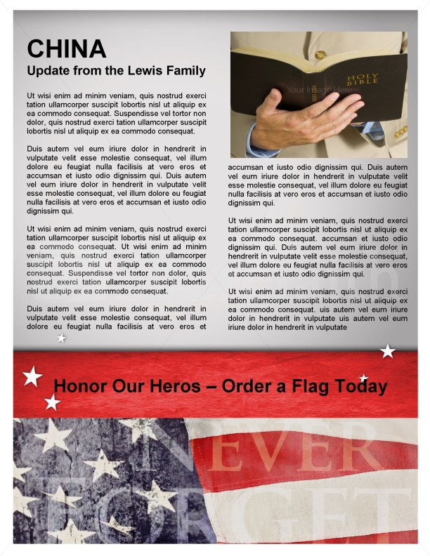 Memorial Day Newsletter Design