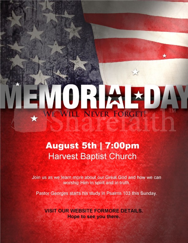 Memorial Day Flyer Design Template Template | Flyer Templates