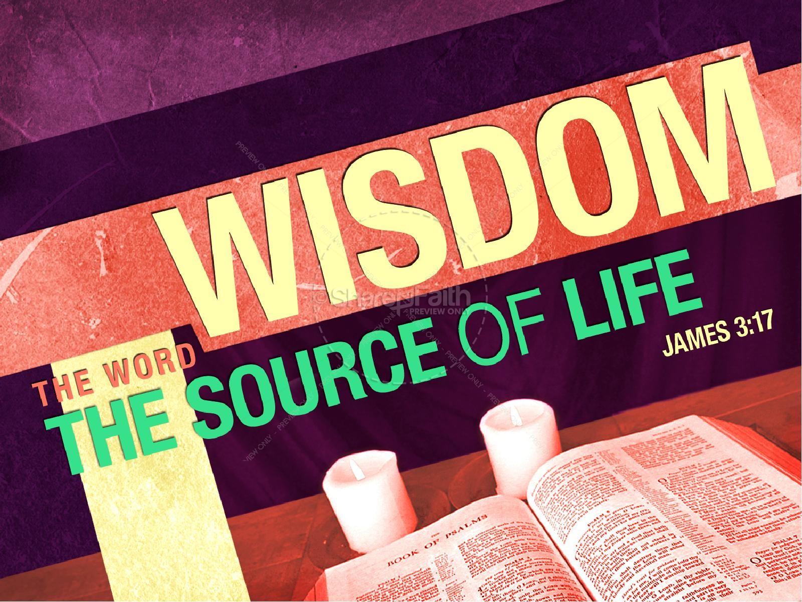 Wisdom PowerPoint Sermon | slide 1