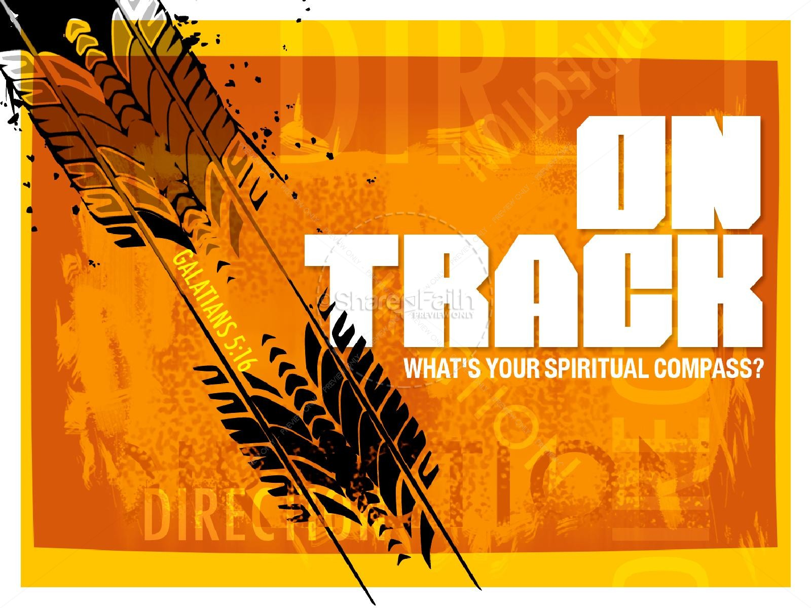 On Track PowerPoint Sermon | slide 1