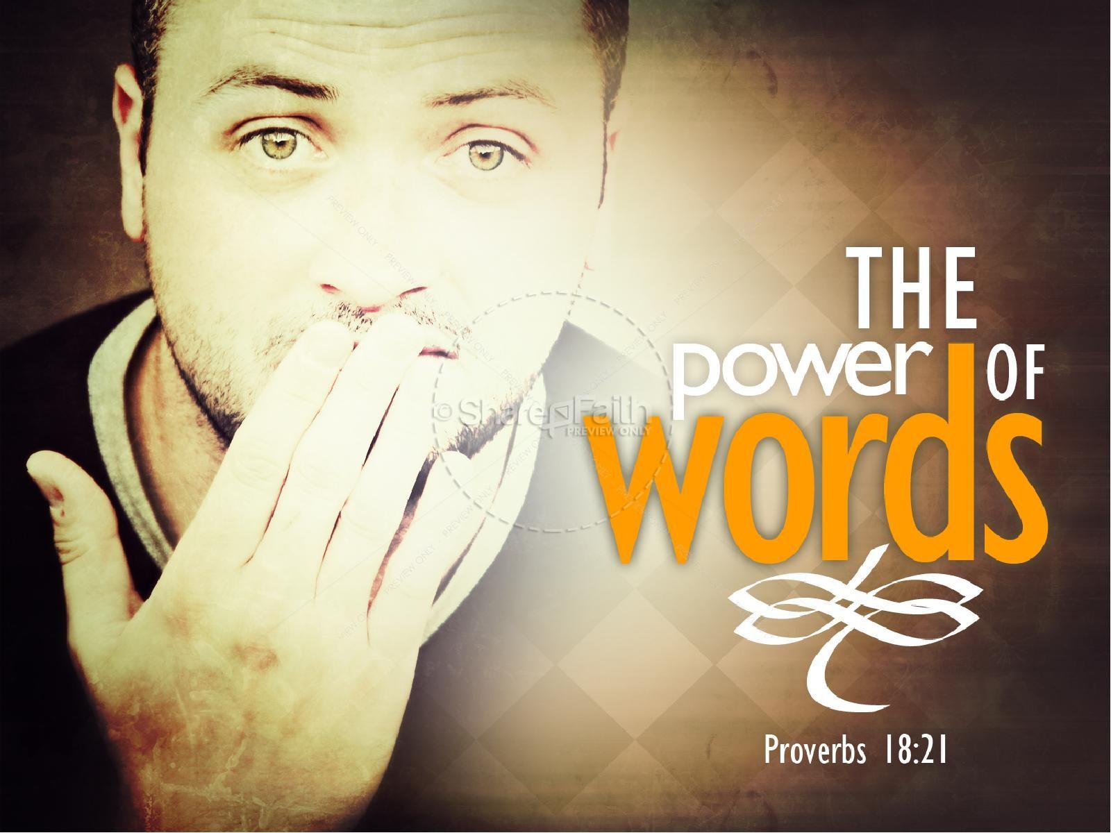 Power of Words PowerPoint | slide 1