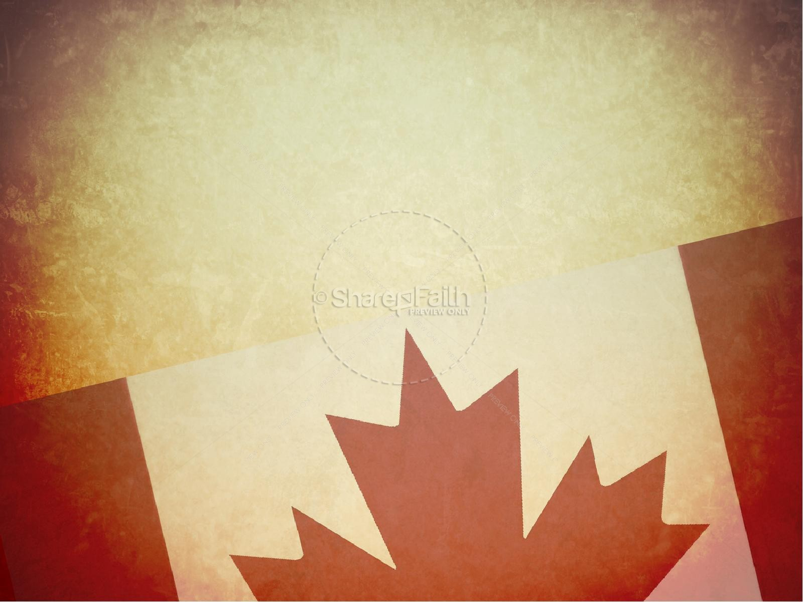 happy canada day powerpoint template. Black Bedroom Furniture Sets. Home Design Ideas