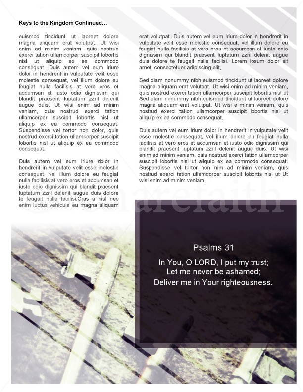 Keys of the Kingdom Church Newsletter Template | page 2
