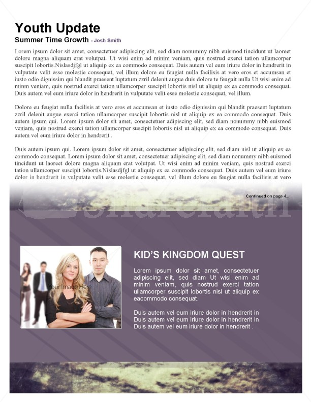 Keys of the Kingdom Church Newsletter Template | page 3