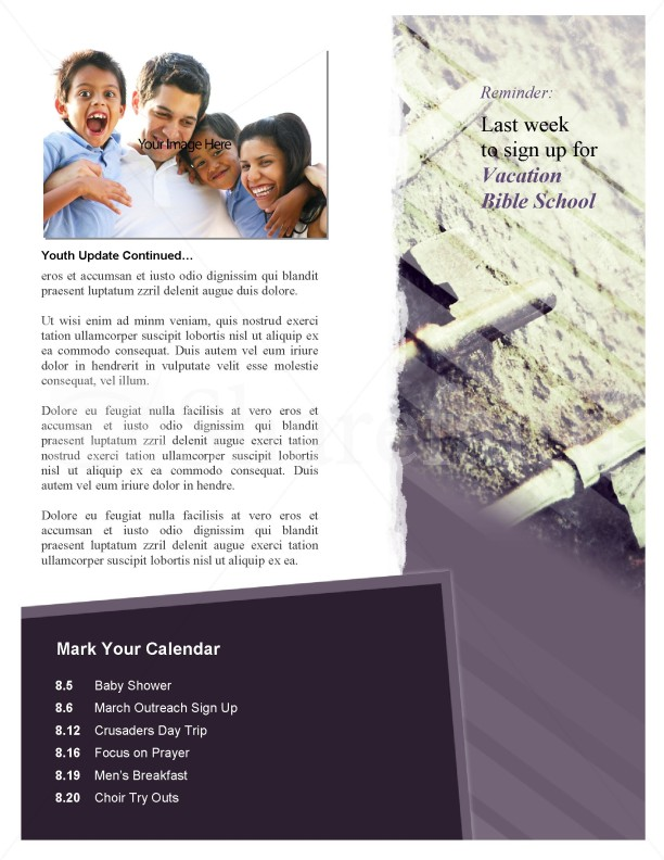 Keys of the Kingdom Church Newsletter Template | page 4