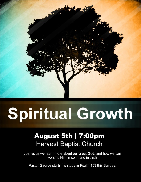 Spiritual Growth Church Flyer