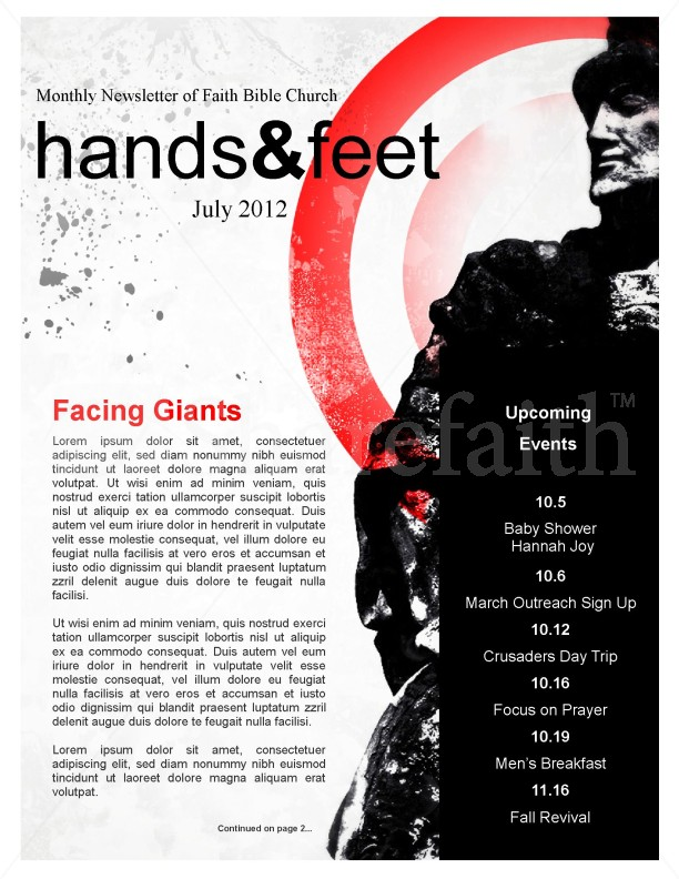 Facing the Giants Church Newsletter