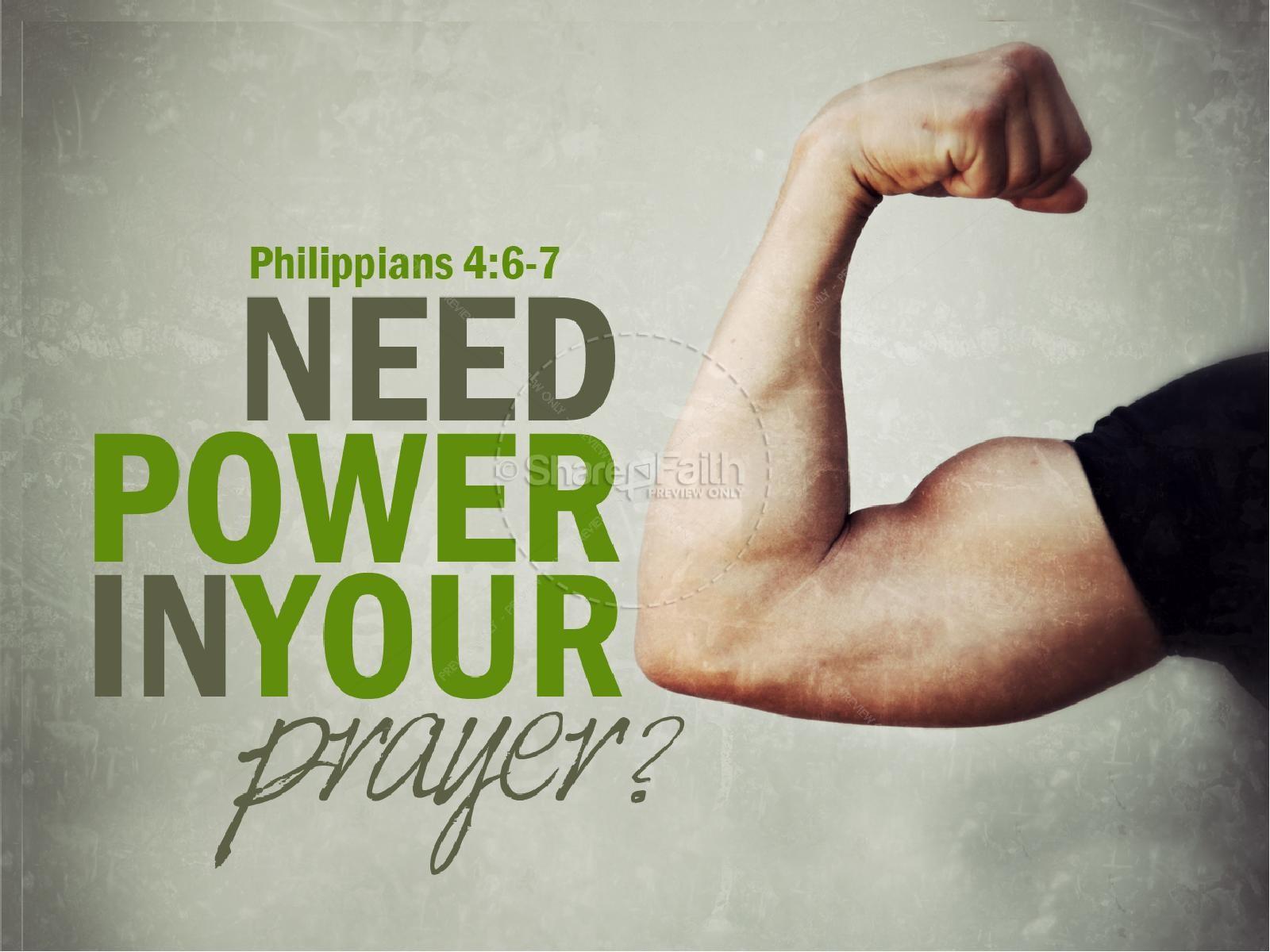 Power in Prayer PowerPoint Sermon | slide 1