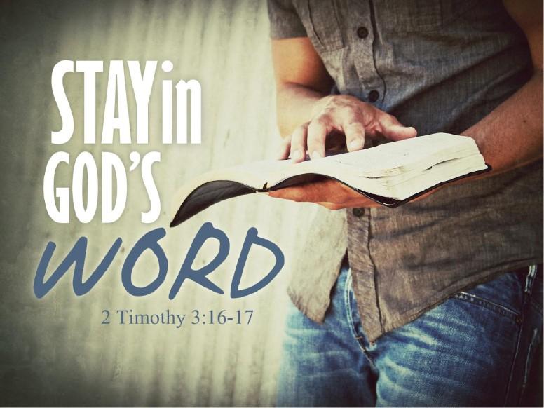 Stay in God's Word PowerPoint Sermon