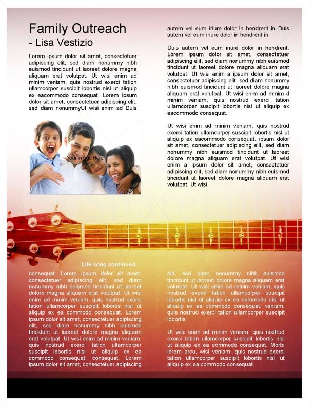 Guitar Newsletter Template