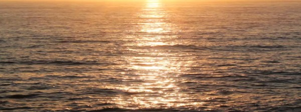 Sunset Ocean Triple Wide VIdeo for Church