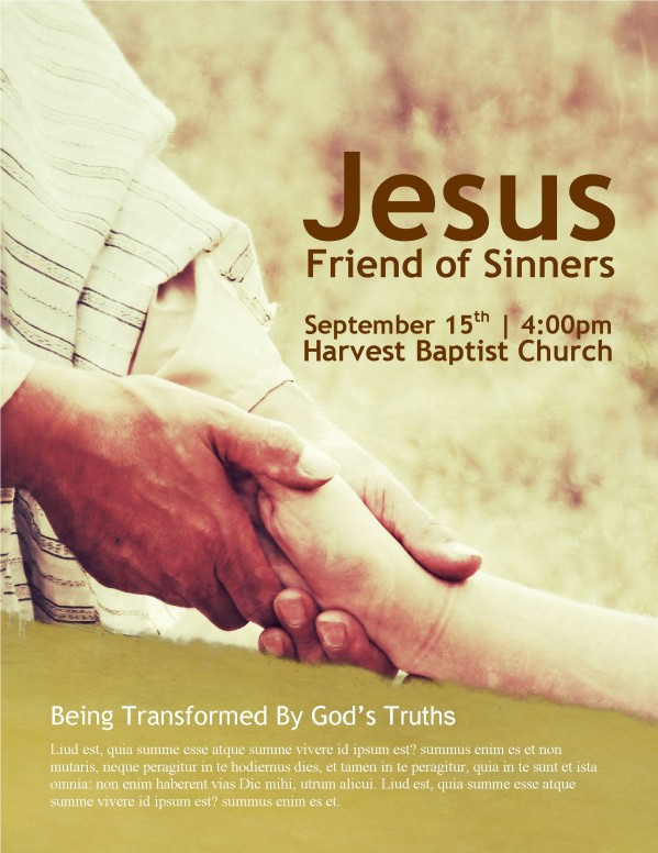 Hand of Jesus Church Flyer Template