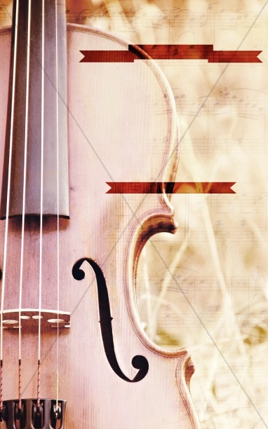 Violin Church Bulletin Template