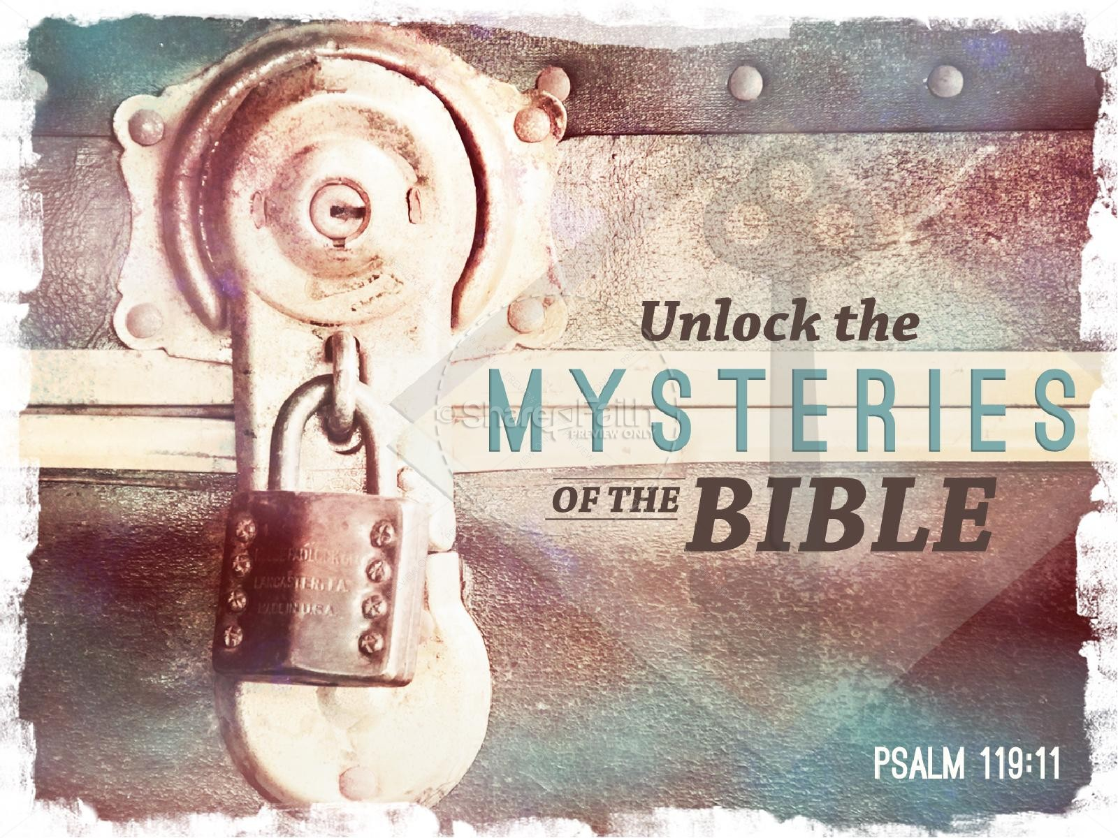 Mysteries of the Bible PowerPoint Sermon | slide 1
