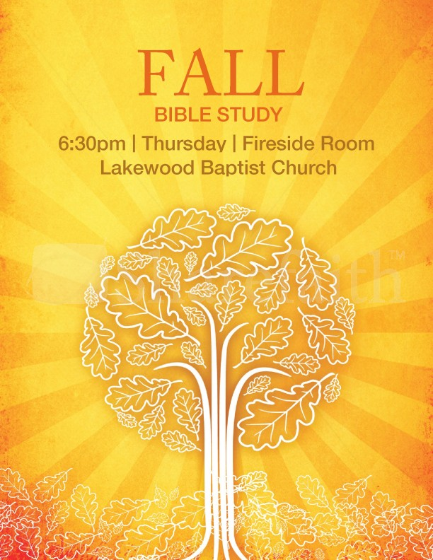 Fall Bible Study Flyer Template Template Flyer Templates