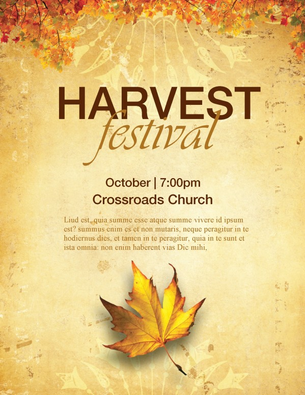 Church Harvest Festival Flyers