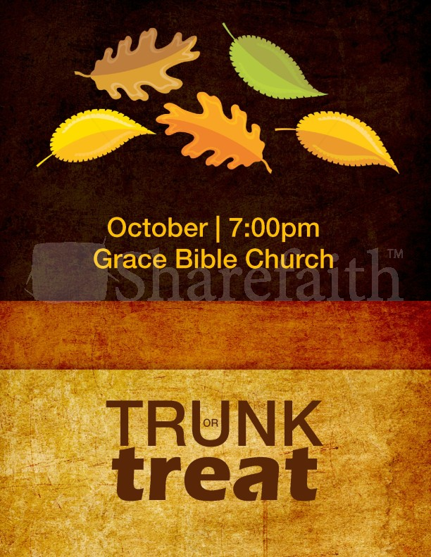 trunk or treat flyer template template flyer templates