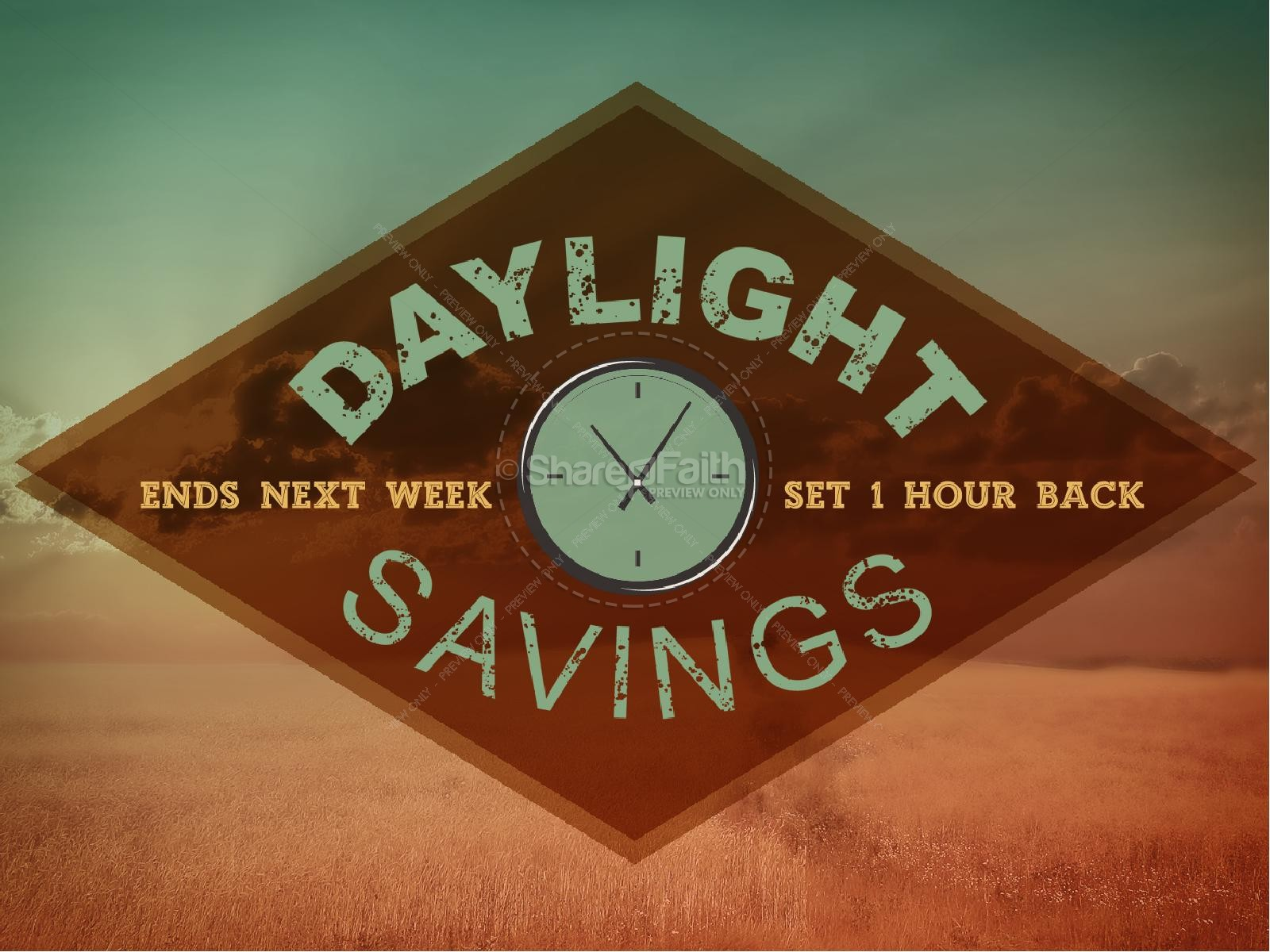 Daylight Savings Church Graphics