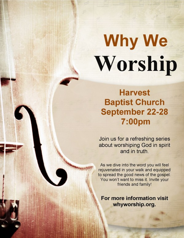 Church Worship Flyer Template