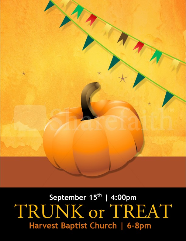 Trunk or Treat Flyer Templates | page 1