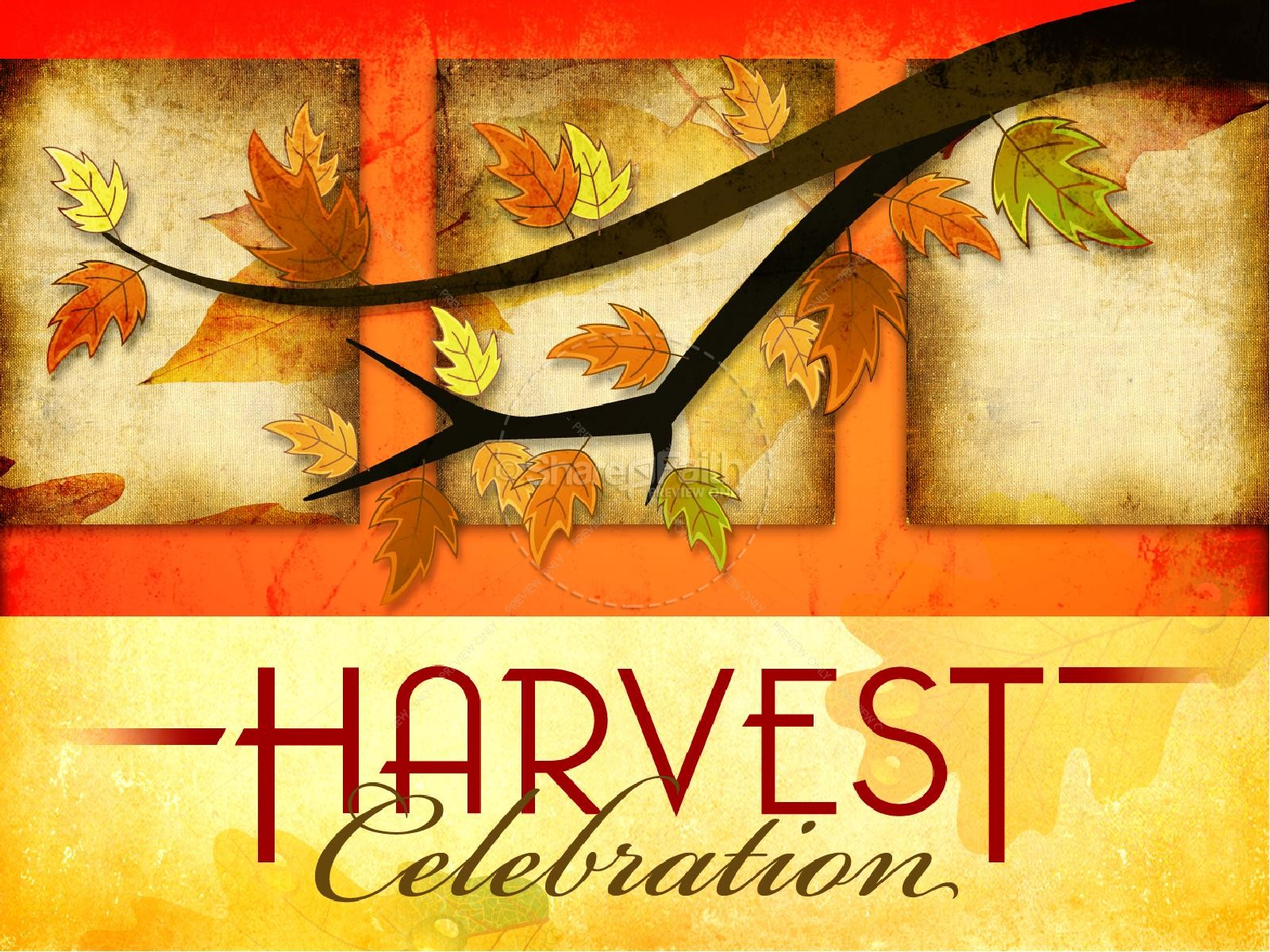 Harvest Celebration Powerpoint Sermon Fall Thanksgiving