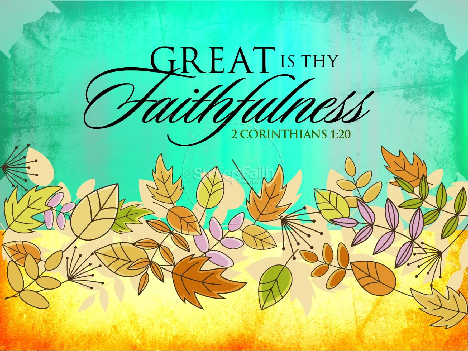 Great Is Thy Faithfulness PowerPoint Sermon