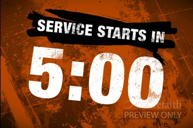 Service Starting Countdown Video