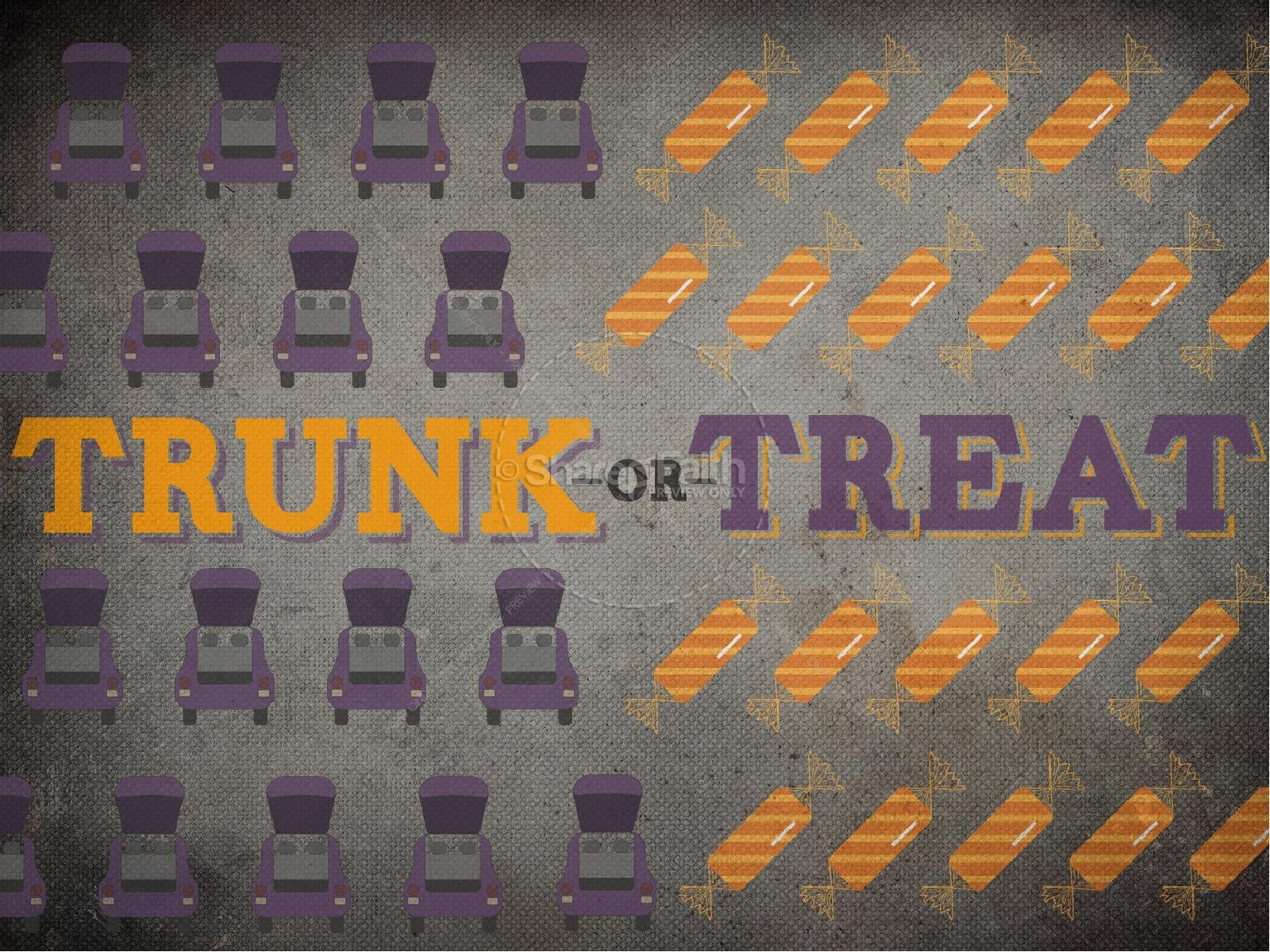 trunk or treat powerpoint template fall thanksgiving powerpoints