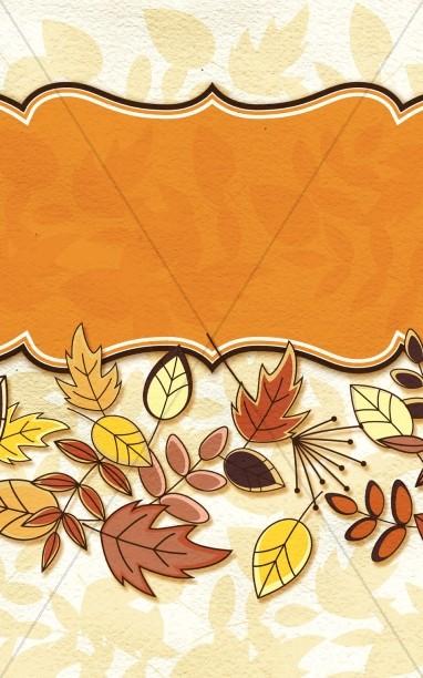 Fall Deco Church Bulletin Cover
