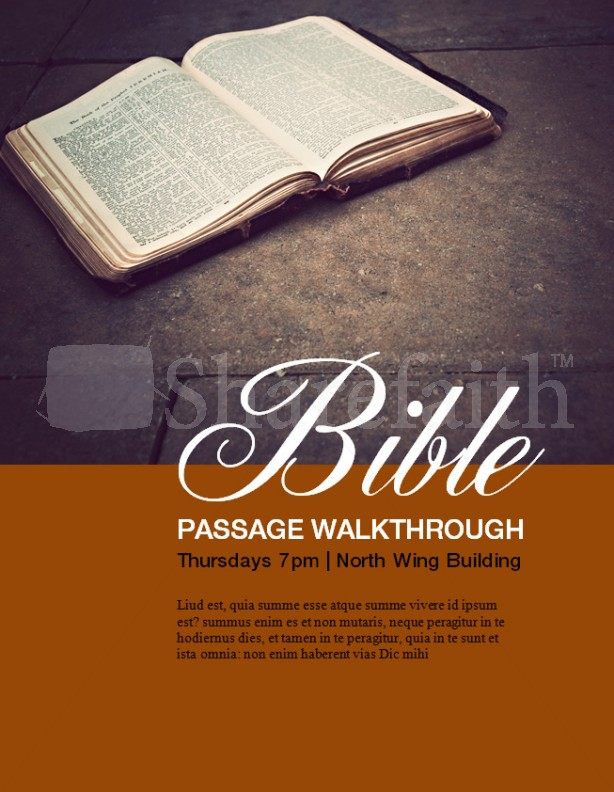 bible walkthrough flyer template. Black Bedroom Furniture Sets. Home Design Ideas