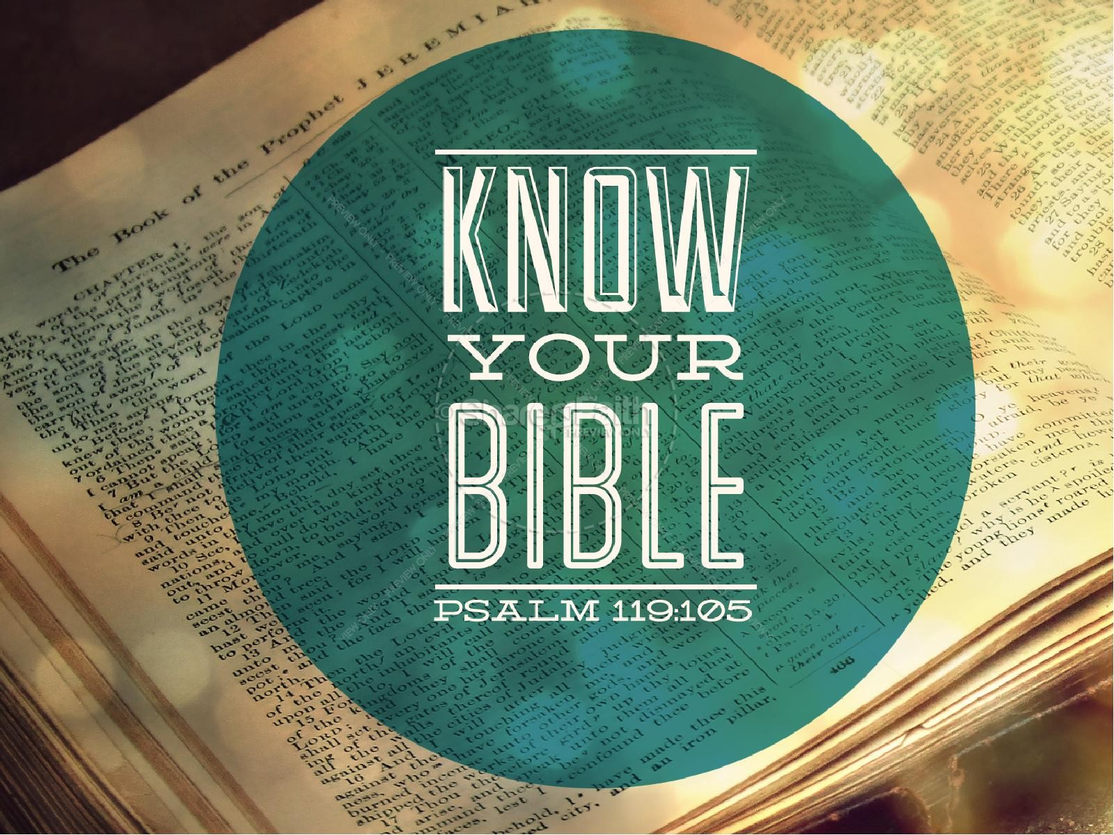Know Your Bible PowerPoint Sermon