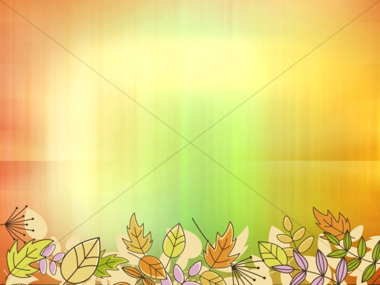 Autumn Colors Worship Background