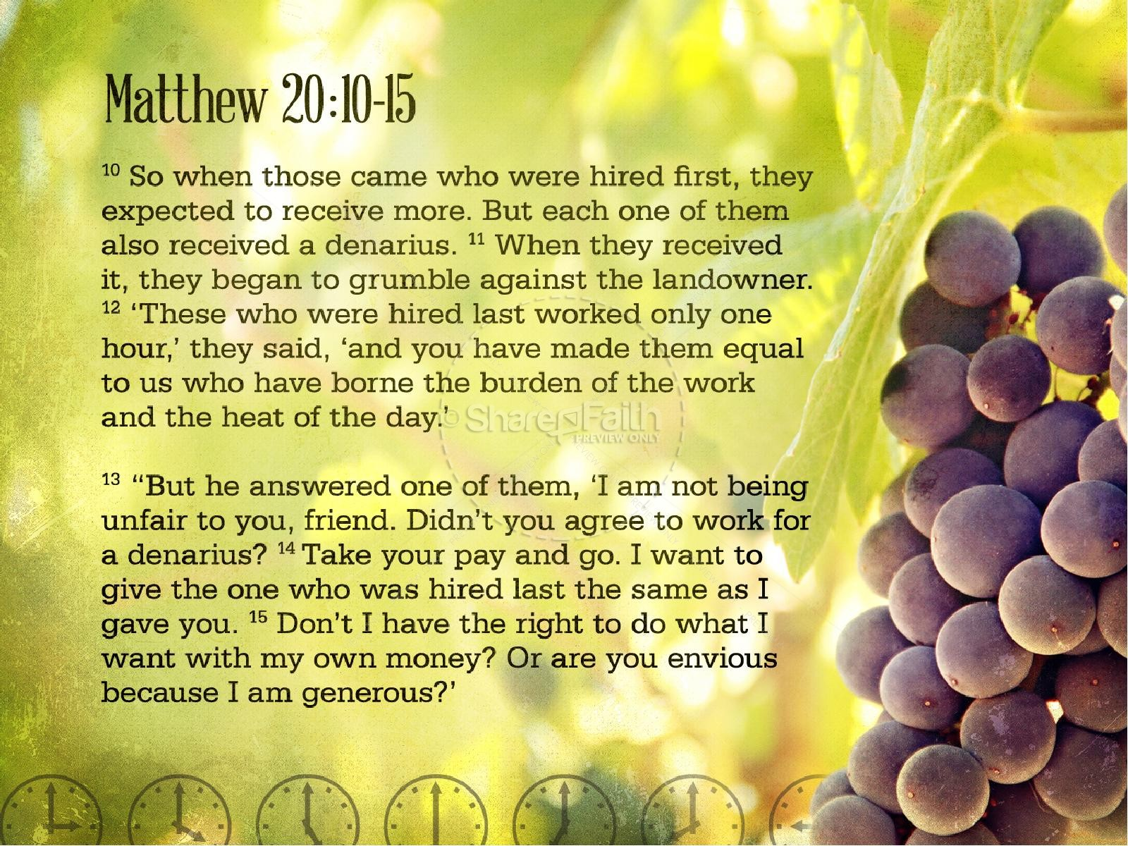 Laborers in the Vineyard PowerPoint Template